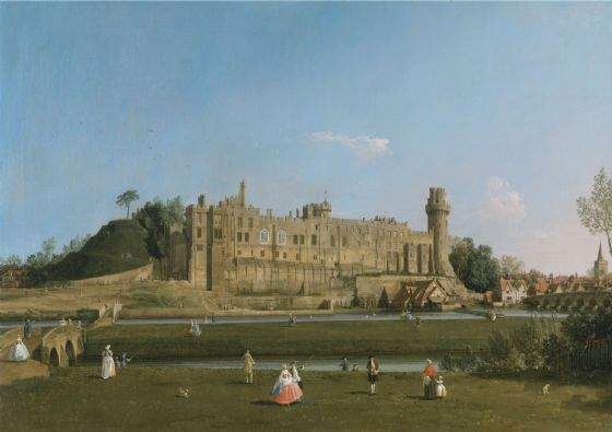 Canaletto:Warwick Castle. Fine Art Print/Poster. Sizes: A4/A3/A2/A1 (004113)